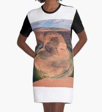 Horseshoe Bend in Arizona Graphic T-Shirt Dress