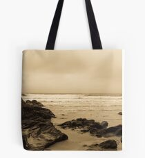 Antique tinted Cornish costal view Tote Bag