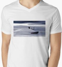 Kitesurfing - Riding the Waves in a Blur of Speed Men's V-Neck T-Shirt