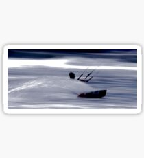 Kitesurfing - Riding the Waves in a Blur of Speed Sticker