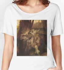 Herbert Draper - The Lament For Icarus 1898. Fairy painting: icarus, mermaids, nude, nudity , temptation , dawn, star, angels, angelic , torso, love  Women's Relaxed Fit T-Shirt