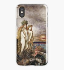 Gustave Moreau - The Sirens Gustave Moreau. Fairy painting: mermaids, nude, nudity , temptation , dawn, star, angels, angelic , breast, love , erotic pose iPhone Case/Skin