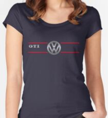 GTI black Women's Fitted Scoop T-Shirt