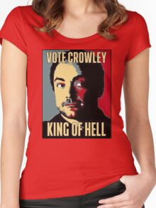 Vote Crowley - KING OF HELL Women's Fitted Scoop T-Shirt