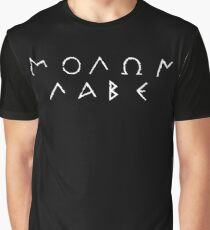 Molon Labe - White Graphic T-Shirt