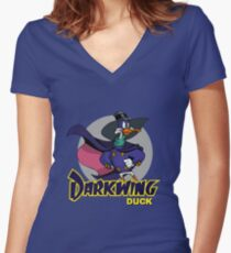 Darkwing Duck Women's Fitted V-Neck T-Shirt