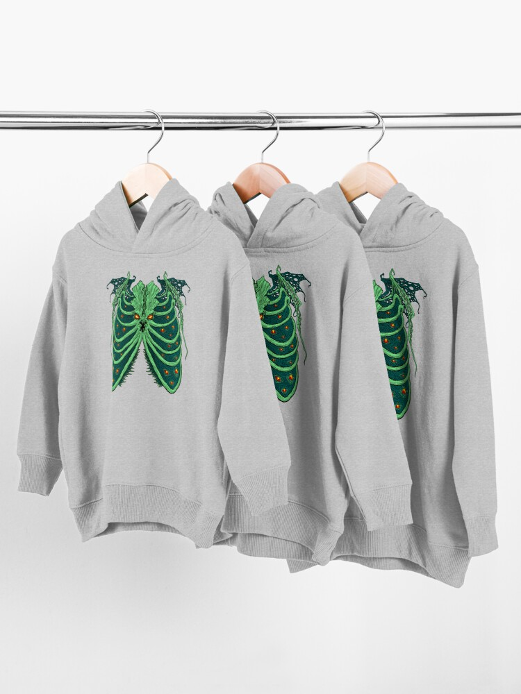 Alternate view of Ribs of the Old God Toddler Pullover Hoodie