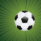 Fußball auf Strahlen Hintergrund von AnnArtshock