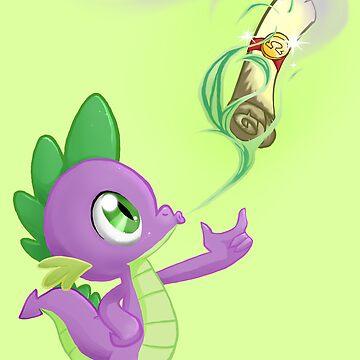 Spike - Cutie mark by finalflyfar7