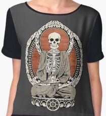 Skeleton Buddha Women's Chiffon Top