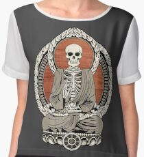 Skeleton Buddha Women's Chiffon Top