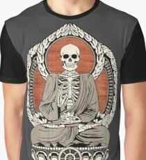 Skeleton Buddha Graphic T-Shirt