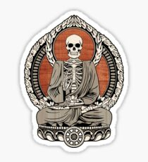 Skeleton Buddha Sticker