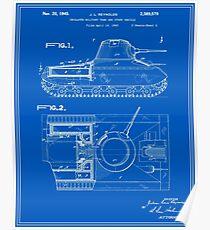 Tank Patent - Blueprint Poster