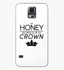 Moriarty 'Crown' Quote - Black Case/Skin for Samsung Galaxy