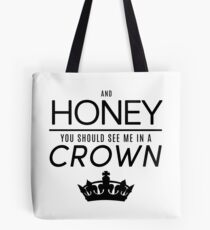 Moriarty 'Crown' Quote - Black Tote Bag