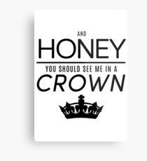 Moriarty 'Crown' Quote - Black Metal Print