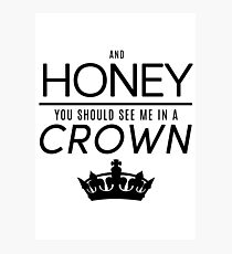 Moriarty 'Crown' Quote - Black Photographic Print