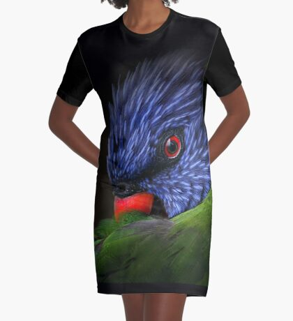 lorikeet Graphic T-Shirt Dress