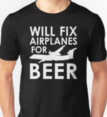 aa6150d7f Will Fix Airplanes for Beer, Q400 Slim Fit T-Shirt