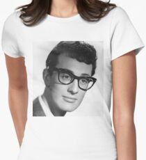 buddy holly Women's Fitted T-Shirt