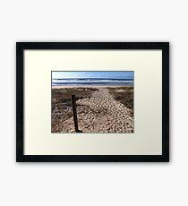 Beach at Lennox Head Framed Print