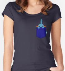 Mudkip in my Pocket Women's Fitted Scoop T-Shirt