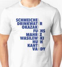 2015/16 Premier League Champions: Leicester player names Unisex T-Shirt