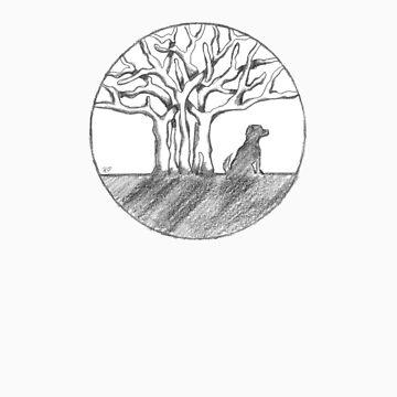 Bodhi Tree Dog by dharmadogstudio