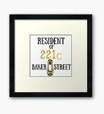 Resident of 221C Baker Street Framed Print