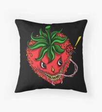 Sinister Strawberry (pillow) Throw Pillow