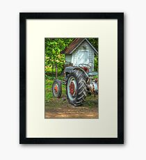 Pulling The Past Framed Print
