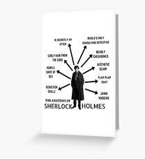 The Anatomy of Sherlock Holmes Greeting Card