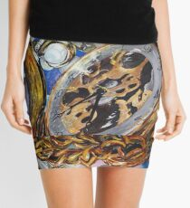 Vanitastic- watches, diamonds and pearls reflected in mirror Mini Skirt
