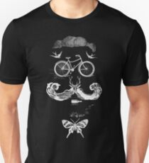vintage bike face - white Unisex T-Shirt