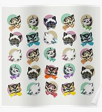 Cats & Bowties Poster