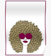 Afro girl Poster