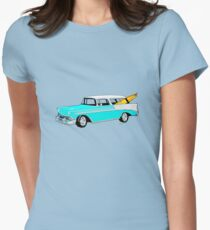 56 Nomad by the Sea in the Morning Womens Fitted T-Shirt