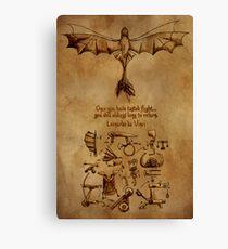 DaVinci's Dragon (Hiccup's Sketchbook) Canvas Print