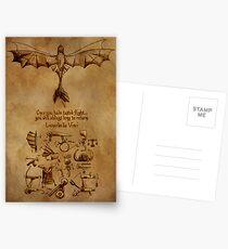 DaVinci's Dragon (Hiccup's Sketchbook) Postcards