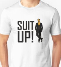 """How I met your mother """"Suit up"""" of Barney Stinson T-Shirt"""