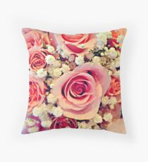 The Bride's Bouquet Throw Pillow