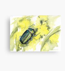 Green Scarab Beetle Canvas Print