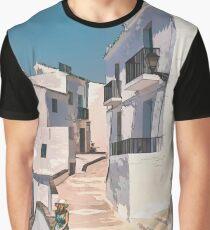 Frigiliana, white village in Andalusia. Graphic T-Shirt
