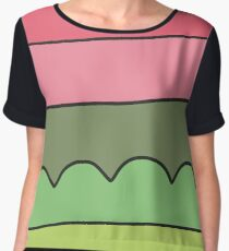 Jumping Geranium Women's Chiffon Top