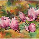 Magnolia Blossoms (in Watercolor) by justteejay