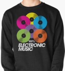 100% Electronic Music (black) Pullover