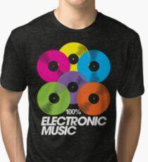 100% Electronic Music (black) Tri-blend T-Shirt