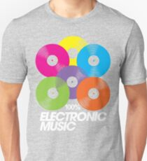 100% Electronic Music (black) Unisex T-Shirt