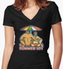 Couple Women's Fitted V-Neck T-Shirt